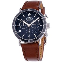 Shinola The Canfield Sport Blue Dial Leather Strap Unisex...