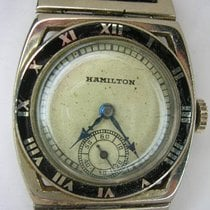 "Hamilton White gold 28mm Manual winding rm1466, Hamilton ""Piping Rock"" pre-owned"