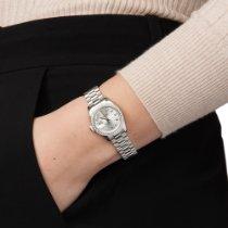Rolex Платина Автоподзавод Cеребро 26mm подержанные Lady-Datejust