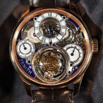 Zenith Rose gold Manual winding Zenith Academy Christophe Colomb Hurricane Grand Voyage II pre-owned