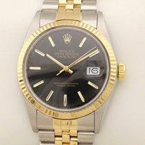 Rolex Datejust 16013 Automatik black 1986 gebraucht