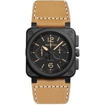 Bell & Ross Ceramic Automatic Black Arabic numerals 42mm new BR 03-94 Chronographe