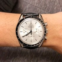 歐米茄 Speedmaster Professional Moonwatch 白金 42mm 銀色 無數字