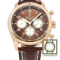 Breitling Red gold Automatic Brown Arabic numerals 43mm new Navitimer 8
