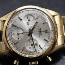 Rolex Chronograph Yellow gold 36mm Silver No numerals
