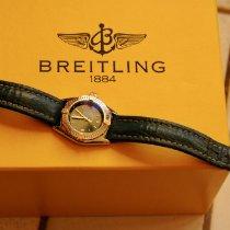 Breitling Callistino Stahl Grün Arabisch