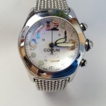 Corum Bubble Stal 45mm Biały Arabskie