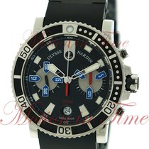 Ulysse Nardin Steel Automatic Black No numerals 42.7mm new Maxi Marine Diver