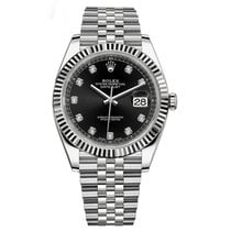 Rolex Datejust 41 Steel & White Gold Black Diamond Jubilee 126334