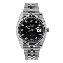 ロレックス Datejust 41 Steel & White Gold Black Diamond Jubilee 126334
