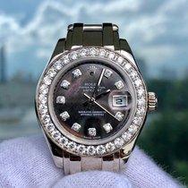Rolex Datejust Pearlmaster Ref:80299 18k White-gold - Blk...