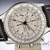 Breitling NAVITIMER WORLD AUTOMATIC CHRONOMETER CHRONOGRAPH GMT