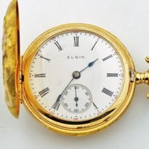 Elgin Diamond 14k Tri Color Gold Pocket Watch Grade 354