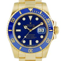 Rolex Submariner Date Yellow Gold Flat Blue Dial - 116618LB