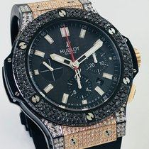 Hublot Big Bang Diamonds Piece Unique Iced Pinkgold Steel Black