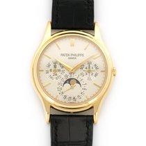 Patek Philippe Perpetual Calendar Žluté zlato 37mm Stříbrná