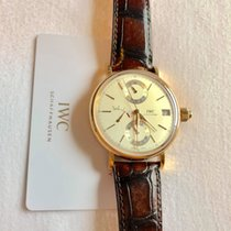 IWC Ouro rosa 45mm Corda manual IW515104 novo