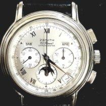 Zenith Cronograf 40mm Atomat folosit El Primero Chronomaster Argint