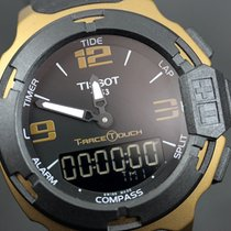 Tissot Aluminium Kvarts Sort Arabertal 42,15mm ny T-Race Touch