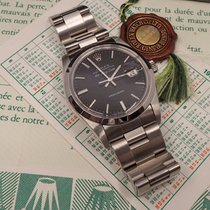 Rolex Air King Date Steel 34mm Black No numerals