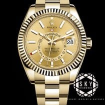 Rolex Sky-Dweller Yellow gold 42mm Champagne Arabic numerals