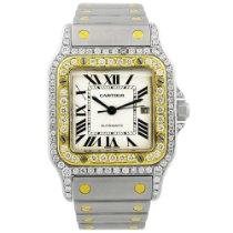 Cartier Santos Galbée Gold/Steel 29mm Silver Roman numerals United States of America, California, Fullerton