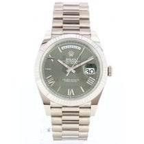 Rolex Day-Date 40 White gold 40mm Green