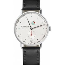 NOMOS Metro Datum Gangreserve Steel 37mm White No numerals