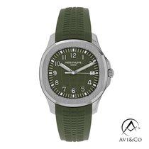Patek Philippe White gold Automatic Green Arabic numerals 42.2mm new Aquanaut