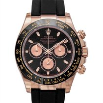 Rolex Rose gold Automatic Black 40mm pre-owned Daytona