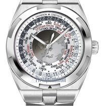 Vacheron Constantin Overseas World Time Steel 43.5mm Silver United States of America, New York, Airmont