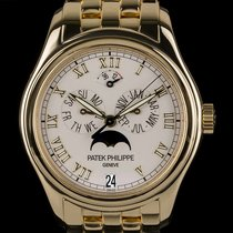 Patek Philippe 18k Yellow Gold Annual Calendar Moonphase 5036J