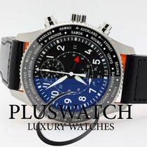 IWC Pilot Chronograph Acciaio 45mm Nero Arabo Italia, l'aquila