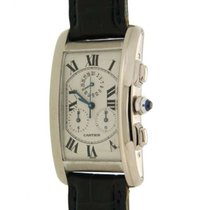 Cartier Tank Usa Chronograph W2603356 White Gold Quartz 27 X...