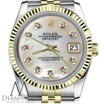 Rolex Ladies Datejust 26mm White MOP Diamond Dial 69173
