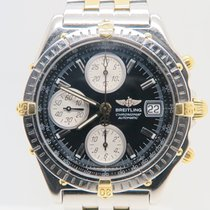 Breitling Chronomat 18k Gold Steel Chronograph 39mm