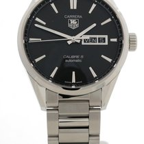 TAG Heuer Carrera Calibre 5 Steel 41mm Black No numerals