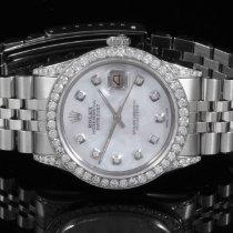 ロレックス (Rolex) Rolex 16014 SS Men's Datejust MOP Diamond...