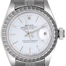 Rolex Ladies Oyster Perpetual Date Watch 69240 White Dial