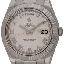 Rolex : Day-Date II President :  218239 :  18k White Gold :...