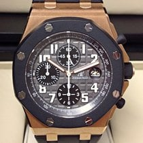 Audemars Piguet Royal Oak Offshore Chronograph Růžové zlato 42mm Šedá Arabské