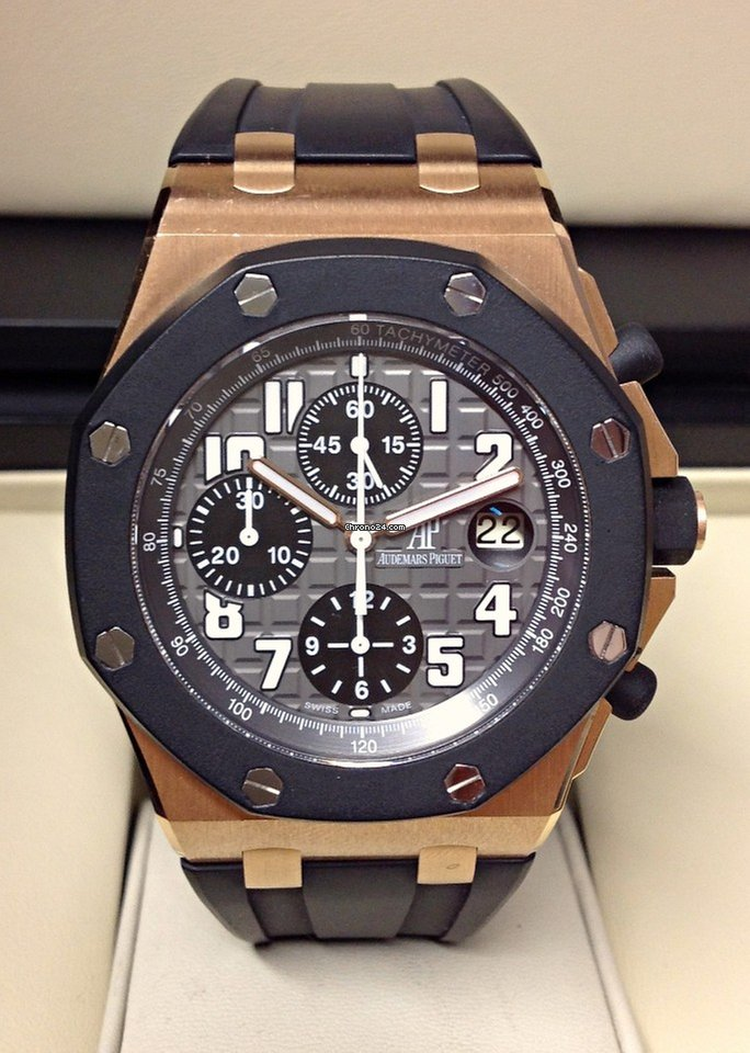 Breitling Watches For Sale >> Audemars Piguet Royal Oak Offshore Chronograph Rose Gold ...