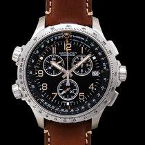 Hamilton Khaki X-Wind nuevo Cuarzo Reloj con estuche y documentos originales H77912535