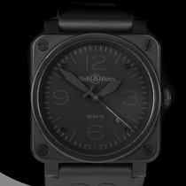 Bell & Ross Carbon Automatic Black Arabic numerals 42mm pre-owned BR 03