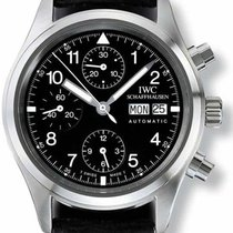 IWC Pilot Chronograph Steel 39mm Black Arabic numerals United States of America, Florida, Naples