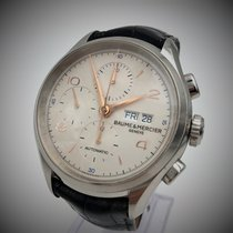 Baume & Mercier Chronograph 43mm Automatic pre-owned Clifton Silver