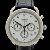Hermès Arceau Stahl 43mm Weiß Arabisch Deutschland, Frankfurt am Main