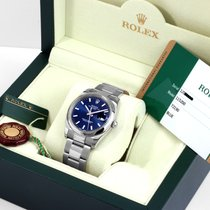 Rolex Oyster Perpetual Date Staal 34mm Blauw