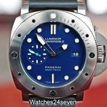 Panerai Luminor Submersible 1950 3 Days Automatic pre-owned 47mm Blue Date Rubber