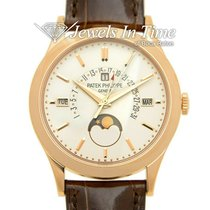 Patek Philippe Rose gold Automatic Silver 39.5mm pre-owned Perpetual Calendar
